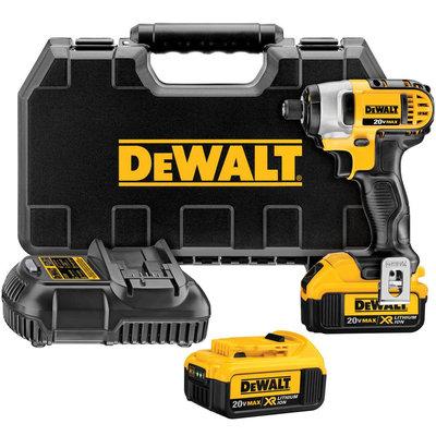 DEWALT DCF885M2 Cordless Impact Driver Kit,20V,1/4 In.