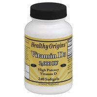 Healthy Origins Vitamin D3 2000 IU - 240 Softgels