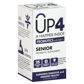 Up4 Probiotic - Up4 Senior Probotics With Dds-1 25 Billion Cfu - 60 Vegcaps
