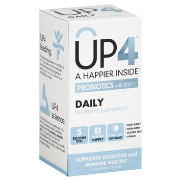 UP4 - Daily Probiotic Supplement with DDS-1 - 60 Vegetarian Capsules