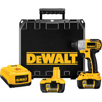 DEWALT DC827KL Cordless Impact Driver Kit,18V,1/4 In.