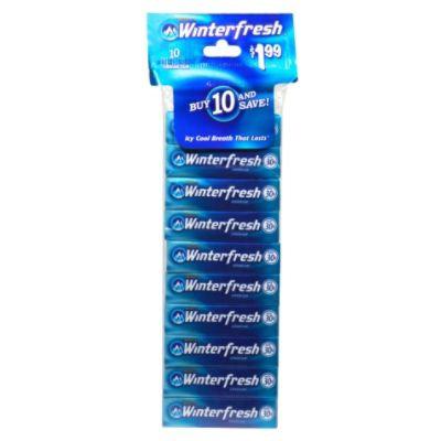 Wrigley's Chewing Gum, 10 5 stick packs - WM. WRIGLEY JR. COMPANY