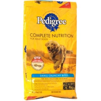 Pedigree Complete Nutrition Food for Adult Dogs, Small Crunchy Bites, Beef Flavor, 22 lbs (10 kg) - KAL KAN FOODS INC.