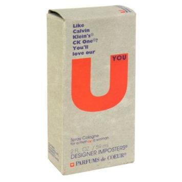 Designer Imposters U Spray Cologne for Men or Women, 2 fl oz (59 ml)