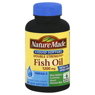 ture Made Fish Oil, Double Strength, 1200 mg, Liquid Softgels, 90 softgels - PHARMAVITE