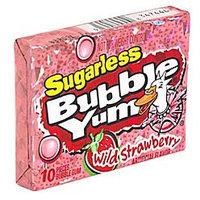 Bubble Yum Gum Sugarless Wild Strawberry