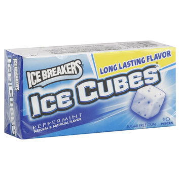 Ice Breakers Peppermint Sugar Free Ice Cubes Gum 10 Pcs/Pack (34000 70002)