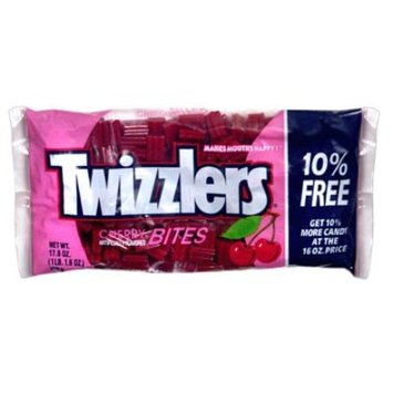 Twizzlers Bites, Cherry, Bonus, 17.6 oz (1 lb 1.6 oz) 498 g - HERSHEY CHOCOLATE U.S.A.