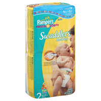 Pampers Swaddlers New Baby Diapers, Size 2 (12-18 lb), Sesame Beginnings, Jumbo, 40 diapers