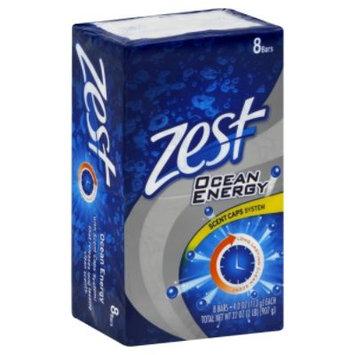 Zest Bar Soap, Scent Caps System, Ocean Energy, 8 - 4.0 oz (113 g) bars [32 oz (2 lb) 907 g]
