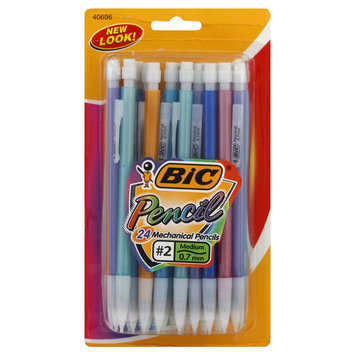 BIC Mechanical Pencils with Colorful Barrels, 0.7mm, Assorted, 24/Pk