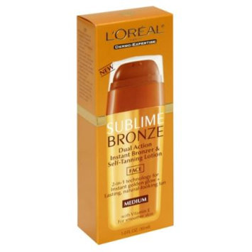 L'Oréal Paris Dermo Expertise Sublime Bronze Dual Action Instant Bronzer & Self Tanning Lotion, with Vitamin E