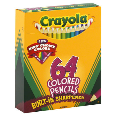 CRAYOLA LLC 64 Count Crayola Colored Pencils