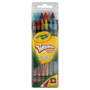 Crayola 687408 Twistables Colored Pencils 12 Assorted Colors/set