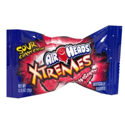 Perfetti Van Melle Usa Inc. Xtremes Sour Chewy Candy, Strawberry, 1 each