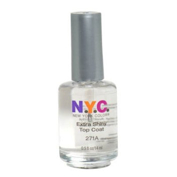 N.Y.C. New York Color Extra Shiny Top Coat, 271A, 0.5 fl oz (14 ml)