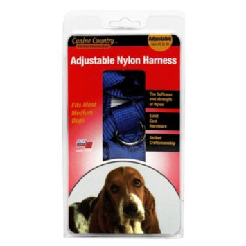 American leather Specialties Canine Country Adjustable Nylon Harness, Size 20 to 28, 1 each
