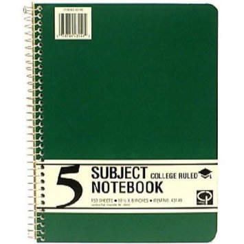 Carolina Pad & Paper Company 5 Subject Notebook, College Ruled, 150 Sheets, 10 notebook