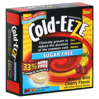 Cold-eeze Cold Remedy Lozenges, Sugar Free, Natural Wild Cherry Flavor, 24 lozenges - THE QUIGLEY CORPORATION