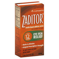 Zaditor Eye Itch Relief, Original Prescription Strength, 0.17 fl oz (5 ml)