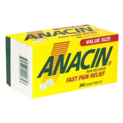 Anacin Pain Reliever, Coated Tablets, Value Size, 300 coated tablets