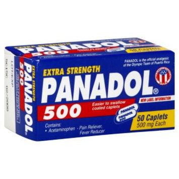 Pain Reliever/Fever Reducer, Extra Strength, 500 mg, Caplets, 50 caplets