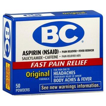 Block Drug Company, Inc. BC Pain Reliever/Fever Reducer, Original Formula, Powders, 50 ct