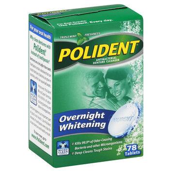 Polident Overnight Denture Cleanser Tablets - 78 Ea