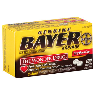 Bayer Genuine Aspirin Pain Reliever, Extra Strength Tablets, 100 each