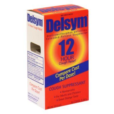 Delsym Cough Suppressant, 12 Hour Cough Relief, Orange, 3 fl oz (89 ml)