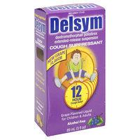 Delsym Cough Suppressant, Grape Flavored Liquid, 3 fl oz (89 ml)