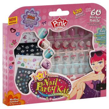 Pink By Kiss Nail Party Kit, Pop Princess, 1pk