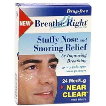 Cns, Inc. Nasal Strips, Medium/Large, Transparent, 24 each