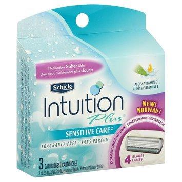 Schick Intuition Plus Cartridges, Sensitive Skin - 3 ea