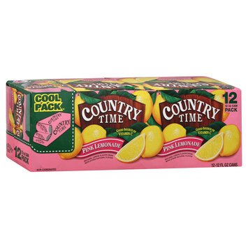 Kraft Foods, Inc Lemonade, Pink, Cool Pack, 12 - 12 fl oz (355 ml) cans [144 fl oz (4.26 lt)]
