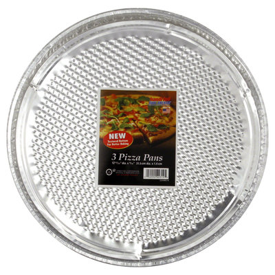 Handi-foil Corporation Pizza Pans, 3 pans