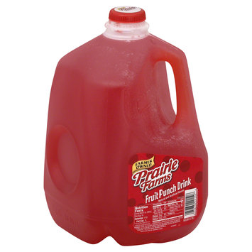Prairie Farms Dairy, Inc. Drink, Fruit Punch, 1 gl (3.78 lt)