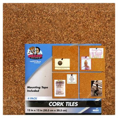 The Board Dudes 4-Pack Light Cork Tiles