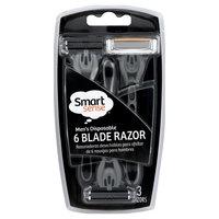 Kmart Corporation Smart Sense Razor, 6 Blade, Men's Disposable, 3 razors