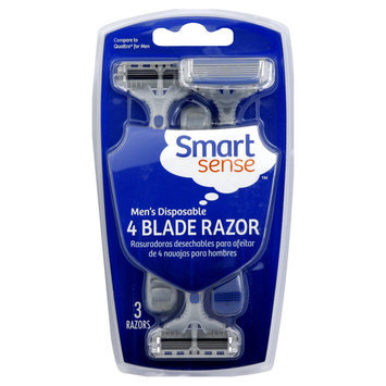Kmart Corporation Razor, 4 Blade, Men's Disposable, 3 razors