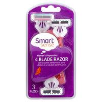 Smart Sense Razor, 4 Blade, Women's Disposable, 3 razors - KMART CORPORATION