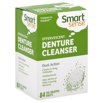 Kmart Corporation Denture Cleanser, Effervescent, Foil Wrapped Tablets, 84 tablets