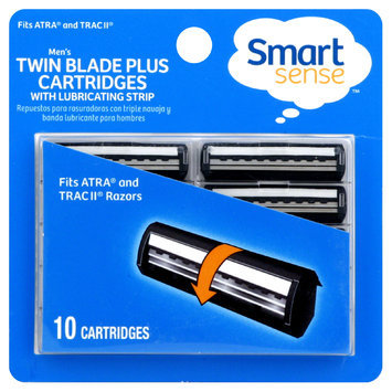 Kmart Corporation Smart Sense Razors, Twin Blade Plus, with Lubricating Strip, Men's, 10 cartridges