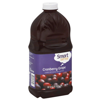 Smart Sense Juice Cocktail, Cranberry Grape, 64 fl oz (2 qt) 1.89 lt - KMART CORPORATION