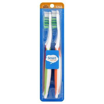 Smart Sense Toothbrushes, Regular, Medium, 4 pack - KMART CORPORATION