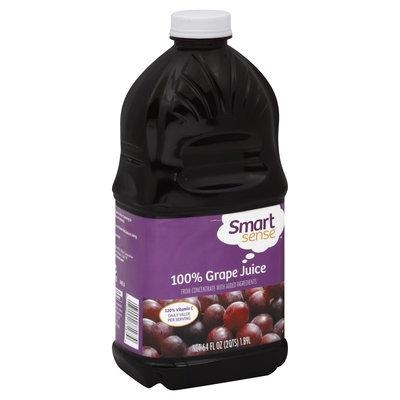Smart Sense 100% Juice, Grape, 64 fl oz (2 qt) 1.89 lt - KMART CORPORATION