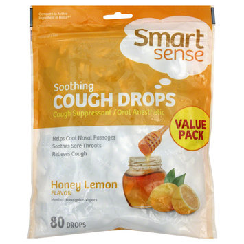 Kmart Corporation Cough Drops, Soothing, Honey Lemon, Value Pack, 80 drops