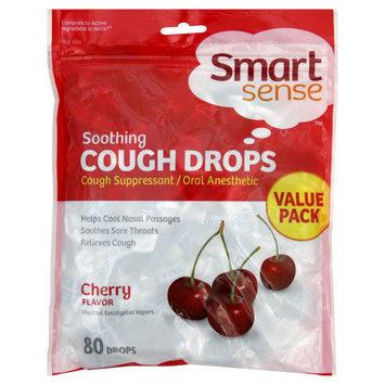 Smart Sense Cough Drops, Soothing, Cherry, Value Pack, 80 drops - KMART CORPORATION
