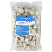 Kmart Corporation Rawhide Mini Bones, Natural, 2 Inch, 50 pack [14.1 oz (400 g)]