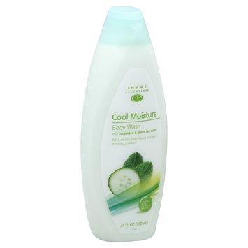 Image Essentials Body Wash, Cool Moisture, with Cucumber & Green Tea Scent, 24 fl oz (710 ml) - KMART CORPORATION